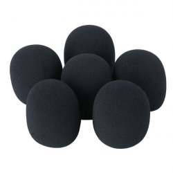 DAP DWS-66 Microphone windscreen set, 6 pcs Black