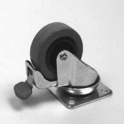 Penn Elcom WE-5210 koliesko 50mm otočné s brzou šedé